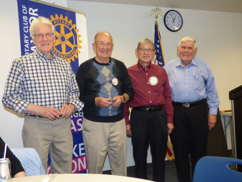 Rotarians Fred, Bob, Soon and Larry