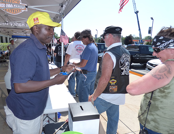 Serving Food at Wounded American Charity Ride