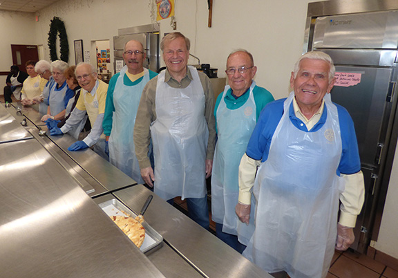 Serving Luncheons at Cappucian Fathers