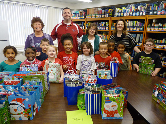 Christams Gifts at Holland Elementary School