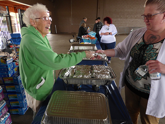 Serving Food at Healty Taylor Day